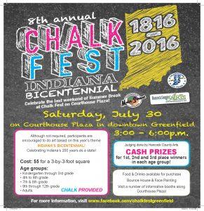 31897797 - Greenfield Main Street Chalk Fest 2016 Flyer FRONT